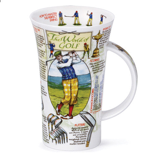 Dunoon Fine Bone China Golf Mug:  World of Golf