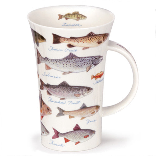 Dunoon Fine Bone China Mug:  Freshwater Fish