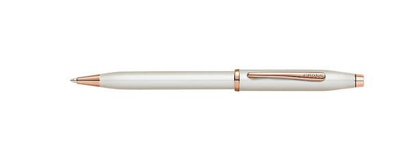 Writing Instruments: Century II Pearlescent White Pen