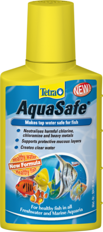 Tetra AquaSafe water dechlorinator.