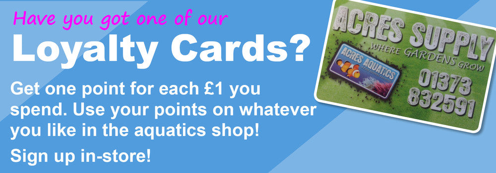 Acres Aquatics Loyalty Cards
