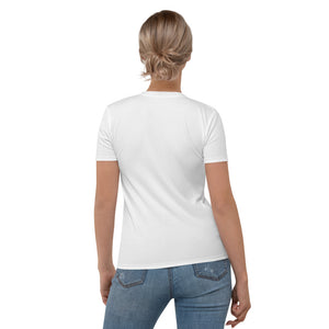 Ask Me About Brows - Women's T-shirt White Gold Print