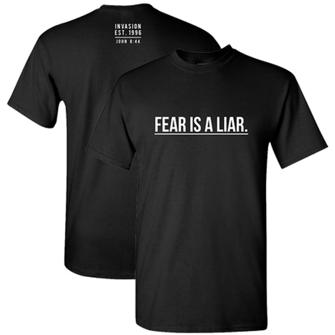 """Fear is a Liar"" Black Crew Neck"