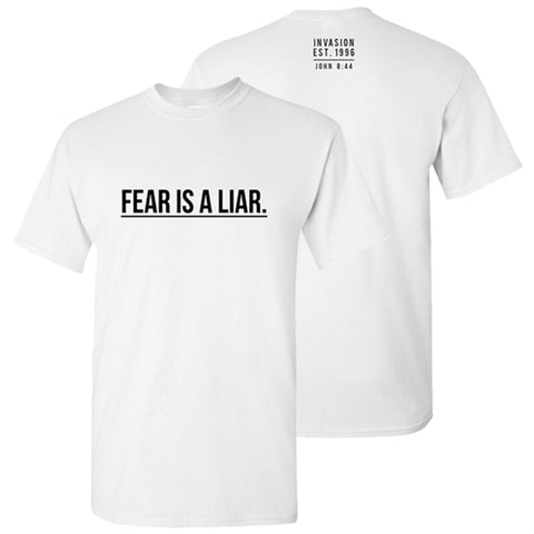 """Fear is a Liar"" White Crew Neck"
