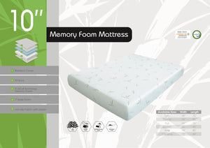 DREAMER 10 Bamboo AirCell GEL Memory Foam Mattress