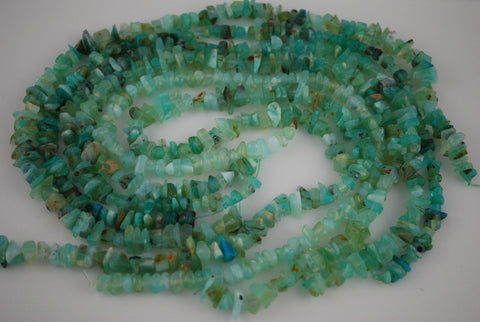 Blue Opal Bead Slices