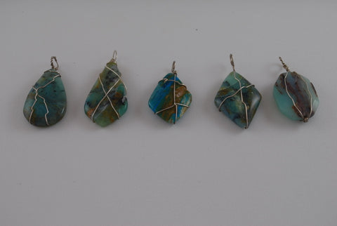 Blue Opal Pendants