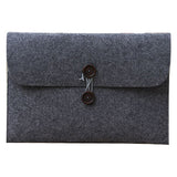 Macbook air 13 sleeve grå m. træknapper