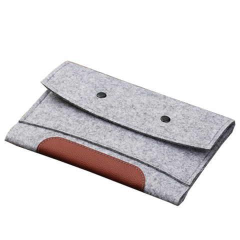 Ipad air sleeve lysegrå m. knapper