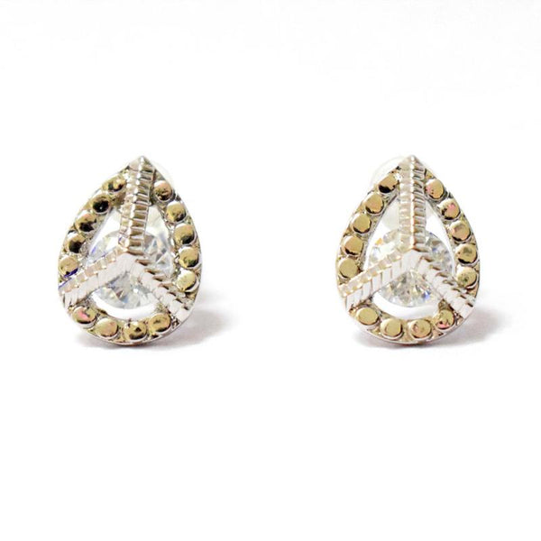 HIRMYA PAISLEY CRYSTAL EARRINGS