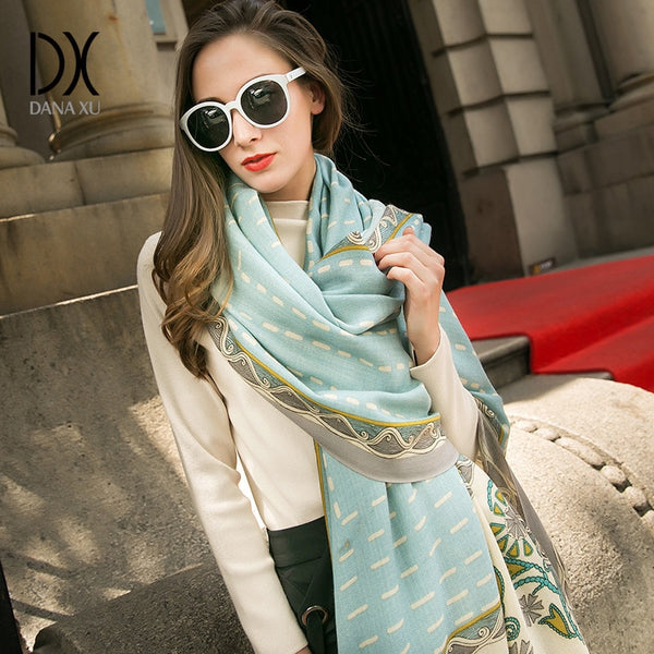Luxury Brand Pashmina Echarp Cashmere Scarf Wrap Warm Shawl Winter Scarf Ladies Scarves Tassels Long Blanket Cachecol Foulard
