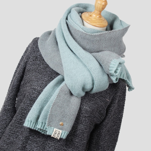Women Fashion Winter Scarf Wool Knitted Scarves Shawls Women Thick Warmer Scarfs Stoles