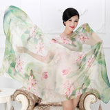 100% mulberry silk long scarves. Beach Cover ups