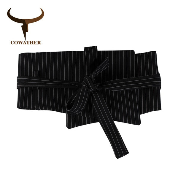 COWATHER belts for women decorated straps vintage female belt new arrival women waistbands fashion female decorated cummerbunds