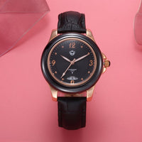 Luxury Brand Watches High Quality Leather Strap Waterproof Quartz Wristwatch