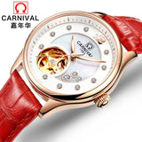 Tourbillon Automatic Watch with Japan MIYOTA Movement Lumious hands Mechanical watches for women