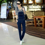 New Arrival Women Solid Denim Jumpsuit Wide Leg High Waist Jumpsuit Lady Sexy Full Length Pants Female Clothing Hots S80901L