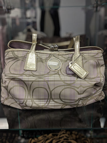 COACH Tartan Signature Purse
