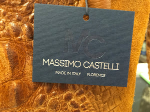 C11-2 Massimo Castelli Brown Leather Tote Bag