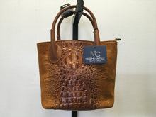 Load image into Gallery viewer, C11-2 Massimo Castelli Brown Leather Tote Bag