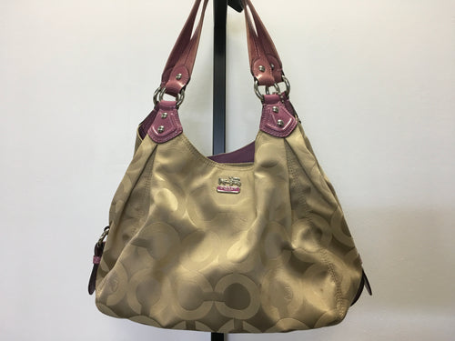 C12-1 Coach Tan/Purple Shoulder Bag