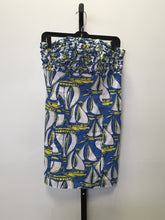 Load image into Gallery viewer, C30-2 Lilv Pulitzer Blue/Yellow Sail Boats Casual Dress