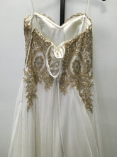 Load image into Gallery viewer, C38-1 Say Yes To The Prom White, Gold Detail Special Occasion Dress