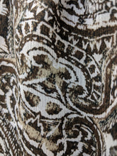 Load image into Gallery viewer, C1-3 Liz Claiborne Brown Paisley Abstract Short Sleeve Shirt NWT