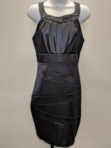 Bisou Bisou Gray Embellished Special Occasion Dress