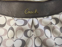 Load image into Gallery viewer, C26-1 COACH Rose and Gold Jaquard Ashley Purse