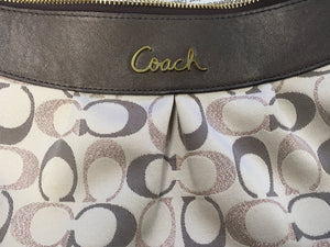 C26-1 COACH Rose and Gold Jaquard Ashley Purse