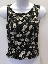 Load image into Gallery viewer, C14-5 Map to Mars Black Floral Tank Top