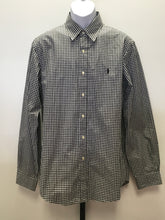 Load image into Gallery viewer, C14-1 Ralph Lauren Black and White Checkered Men's Fancy Shirt