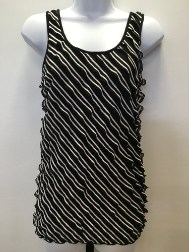C15-6 Maurices Black Diagonal Stripe Tank Top
