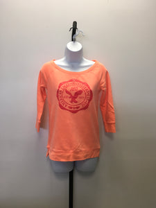 C26-12 American Eagle Orange Long Sleeve Shirt
