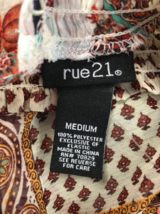 C13-10 Rue 21 Retro Floral Long Sleeve Shirt