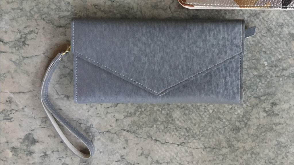 Cool Grey Wristlet Wallet