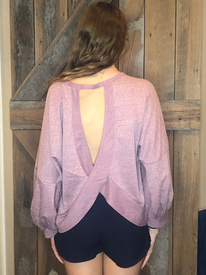 Mauve Open Back Top