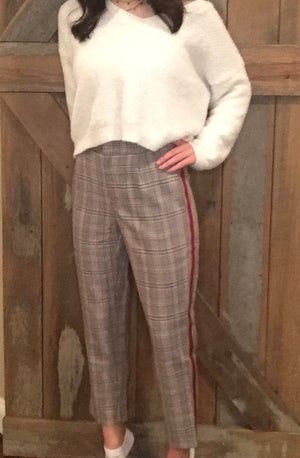 Mocha Plaid Trousers