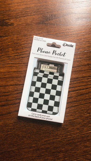 checkered phone pocket