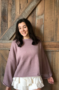 Mauve Veronica Sweater