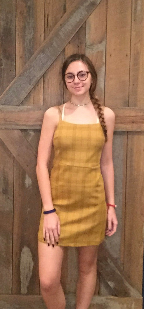 Mustard Plaid Dress