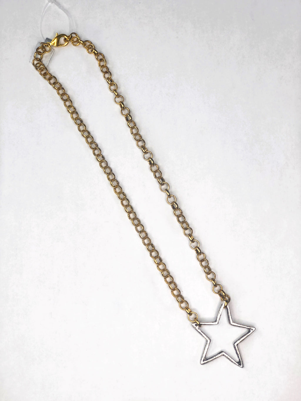 Gold Chain Star Necklace