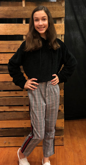 Black Plaid Trousers