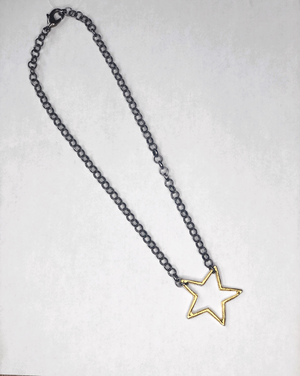 Black Chain Star Necklace
