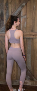 Violet Criss Cross Back Leggings