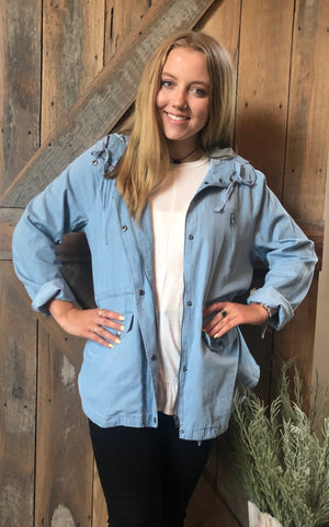 Chambray lightweight jacket- curvy