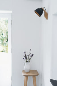Grey Element Oak and Ceramic Wall Light
