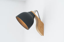 Load image into Gallery viewer, Grey Element Oak and Ceramic Wall Light