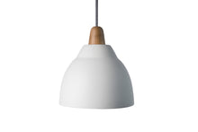 Load image into Gallery viewer, White Element Ceramic and Oak Pendant Light